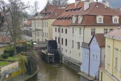 Wasser dreht herein Prag Lizenzfreies Stockbild