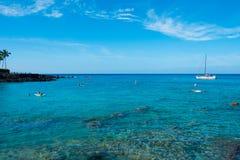 Wasser-Erholung Mauna Lani Bay Hawaii Lizenzfreies Stockfoto