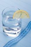 Wasser für gesunde Lebensdauer mit Zitrone Lizenzfreies Stockfoto