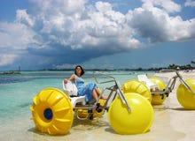 Wasser-Fahrräder Stockbild