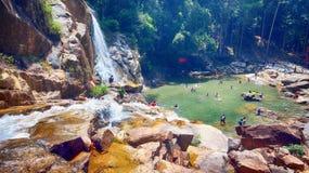Wasser-Fall-Landschaft Stockbilder