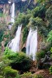Wasser-Fall, Miezekatze Stockbilder