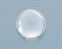 Wasser-flüssiger Tropfen lokalisiert auf transparentem Stockfotos