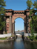 Wasser-Gatter von neuer Holland-Insel. St Petersburg Lizenzfreie Stockfotografie