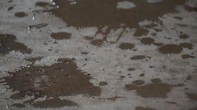 Wasser getränkt in Beton Lizenzfreies Stockfoto