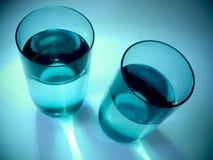 Wasser-Gläser stockbild
