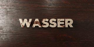 Wasser - grungy drewniany nagłówek na klonie - 3D odpłacający się królewskość bezpłatny akcyjny wizerunek Zdjęcia Stock
