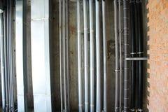 Wasser, Heizung, Abwasser und Lüftungsrohre Lizenzfreies Stockbild