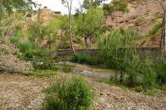Wasser-Hinter-Chelva-Fluss Stockfotos
