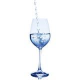 Wasser im Glas Stockbild