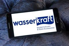 Wasser kraft company logo. Logo of Wasser Kraft company on samsung mobile. Wasserkraft is a German producer of sanitary products and bath furniture Stock Photo