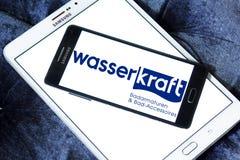 Wasser kraft company logo. Logo of Wasser Kraft company on samsung mobile. Wasserkraft is a German producer of sanitary products and bath furniture Stock Image