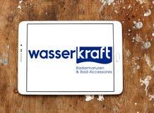 Wasser kraft company logo. Logo of Wasser Kraft company. Wasserkraft is a German producer of sanitary products and bath furniture Royalty Free Stock Photo