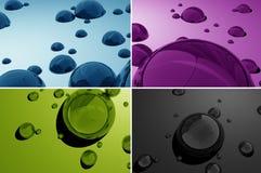 Wasser lässt 3D fallen Stockfoto