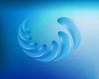 Wasser lässt abstraktes Symbol fallen Stockbild