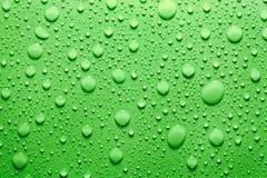 Grün lässt Hintergrund fallen Stockfotos