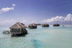 Wasser-Landhäuser bei Gili Lankanfushi Lizenzfreies Stockfoto