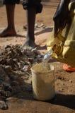 Wasser in landwirtschaftlichem Afrika Stockbild