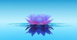 Wasser Lily Abstract Fantasy Background lizenzfreie abbildung