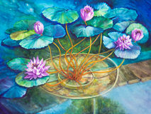 Wasser Lily Pond bei Monets Giverny Lizenzfreie Stockfotos