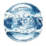 Wasser-Luftblase stockfoto