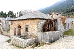 Wasser-Mühle im großen Lavra stockfotografie
