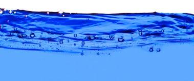 Wasser mit Luftblasen stockbild