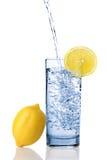 Wasser mit Zitrone Lizenzfreies Stockbild