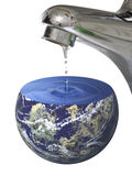 Wasser-Planet Stockfoto