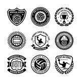 Wasser Polo Vector Icons 36 Stockfotografie