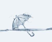Wasser-Regenschirm lizenzfreies stockbild