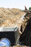 Wasser-Rohrleitung-Aufbau Lizenzfreie Stockbilder