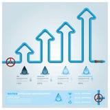 Wasser-Rohrleitungs-Geschäft Infographic Stockfotos