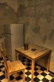 Wasser schädigende Küche Lizenzfreies Stockfoto