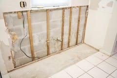 Wasser-Schaden in der Küche Stockfotos