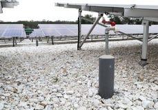 Wasser-Schlauch-Schellfisch für Sonnenkollektor-Reinigung im Solarbauernhof stockbild