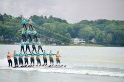 Wasser Ski Pyramid Lizenzfreie Stockfotos