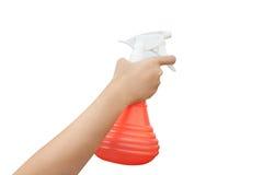 Wasser-Spray in der Hand Lizenzfreie Stockfotografie