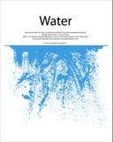 Wasser-Spritzen stock abbildung