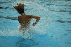 Wasser-Spritzen Stockfoto