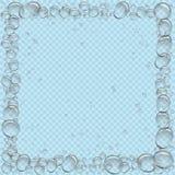 Wasser sprudelt der quadratische transparente Rahmen lizenzfreie abbildung