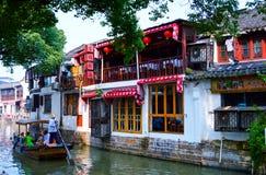 Wasser-Stadt Shanghais Zhujiajiao lizenzfreies stockbild