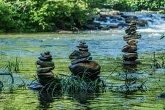 Wasser-Steine Stockfotos