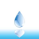 Wasser-Tropfen Lizenzfreies Stockfoto