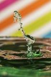 Wasser-Tropfen collission Stockbilder