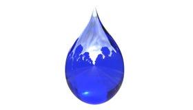 Wasser-Tropfen mit Reflexion lokalisierter Illustration 3d vektor abbildung