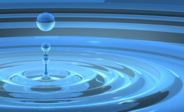 Wasser-Tropfen-Spritzen Stockfotografie