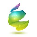 Wasser-Tropfen-Zusammenfassungs-Ikonen-Design-Vektor Lizenzfreies Stockfoto
