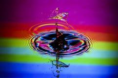Wasser-Tropfen-Zusammenstoß-Nahaufnahme Stockfotos