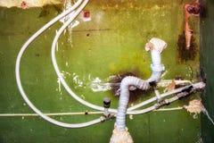 Wasser und Abwasserrohre Stockfoto